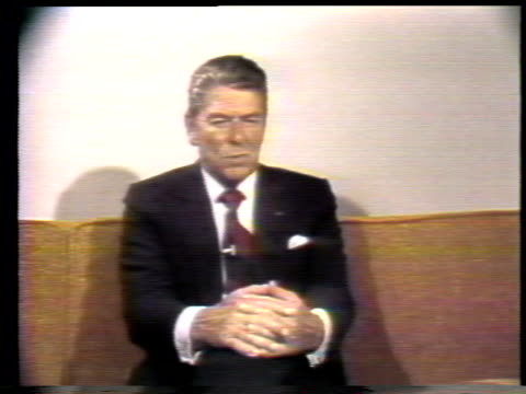 reagan discusses the presidential primaries - ronald reagan präsident der usa stock-videos und b-roll-filmmaterial