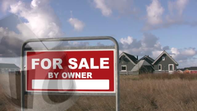 "real estate ""sold'hd-technologie - immobilienschild stock-videos und b-roll-filmmaterial"