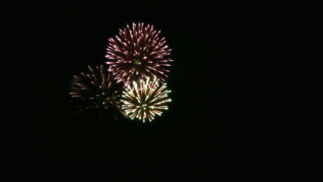 real fireworks (hd) - firework display stock videos & royalty-free footage