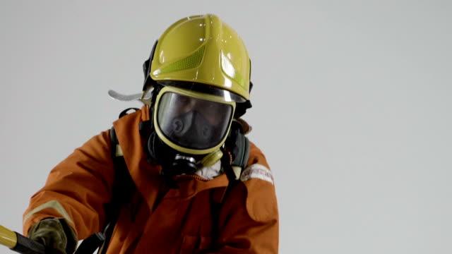 real life : firefighter job - ingegneria video stock e b–roll