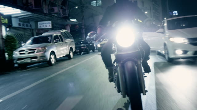 real life : motorcycle at chinatown - traffic stock videos & royalty-free footage