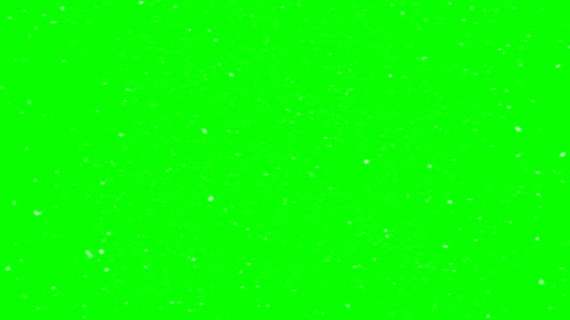 real look snow animation green box overlay endless loop - snow chroma key stock videos & royalty-free footage
