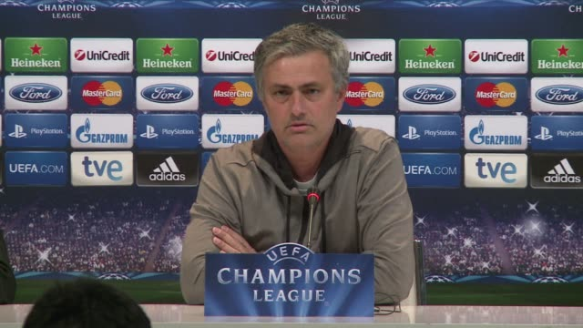 real madrid coach jose mourinho has called on his side to raise its game when they face borussia dortmund in the second leg of their champions league... - borussia dortmund stock videos and b-roll footage