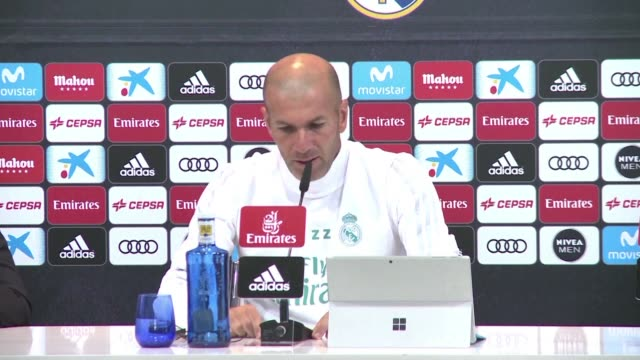 real madrid coach zinedine zidane sends a message of support to those affected by terrorist attacks in barcelona and cambrils that have left 14... - cambrils stock videos & royalty-free footage