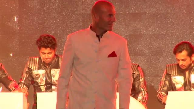 Real Madrid football coach Zinedine Zidane attends a fashion show in Mumbai India