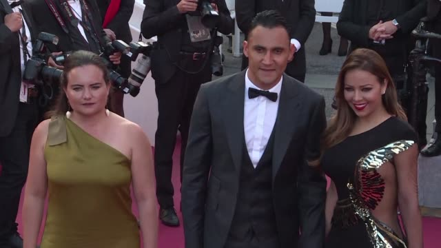 real madrid goalkeeper keylor navas said sunday that he was more scared of walking the red carpet at the cannes film festival than facing liverpool's... - 71st international cannes film festival stock videos & royalty-free footage