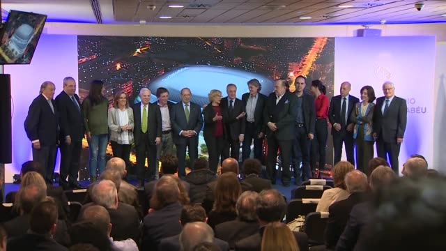 real madrid presents the new plans for the santiago bernabéu´s reformations - international team soccer stock videos & royalty-free footage