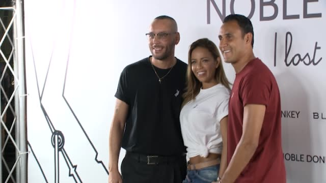 real madrid soccer player sergio ramos keylor navas isco alarcón lucas vázquez and pilar rubio attend the 'noble donkey' photocall at fox restaurant - photo call stock videos & royalty-free footage