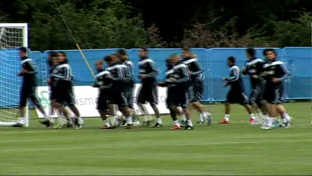 christiano ronaldo 1472009 ireland county kildare maynooth ext christiano ronaldo along to training pitch/ real madrid football training session... - 2009 stock videos & royalty-free footage