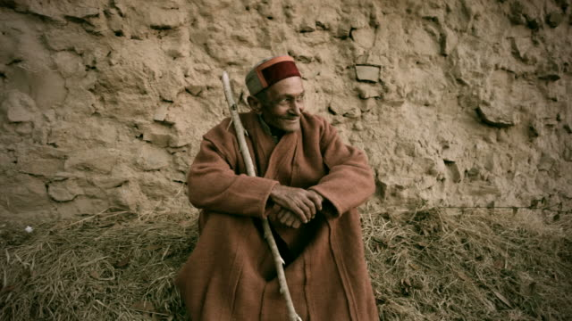 Real people from rural India: Portrait of a Senior Man