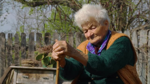 real people senior woman rural scene - 70 79 years stock videos & royalty-free footage