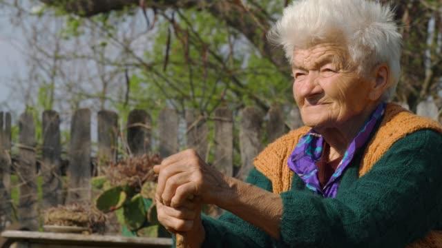 real people senior woman rural scene - 70 79 years stock videos & royalty-free footage
