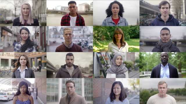 real people video portraits - multi ethnic group stock videos & royalty-free footage
