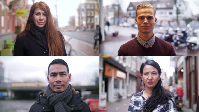 4K SLOW-MOTION: Real people video portraits