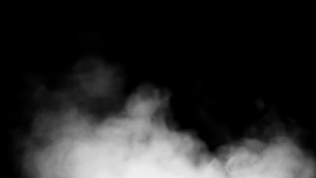 Real Rauch auf schwarzem Hintergrund