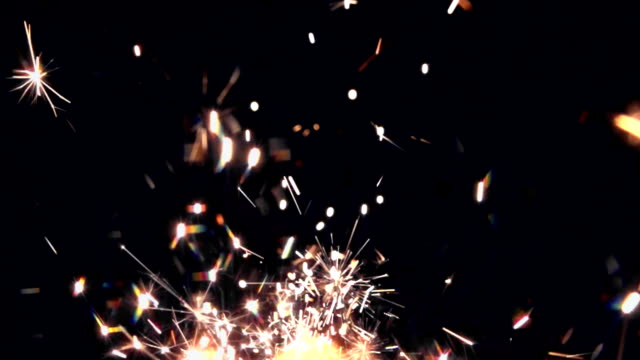 real sparkles sow motion - sparks stock videos & royalty-free footage