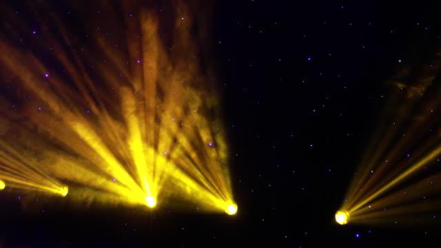 Real Time 4K: Stage Lights, spotlight animation.