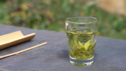 Real time / A cup of green tea