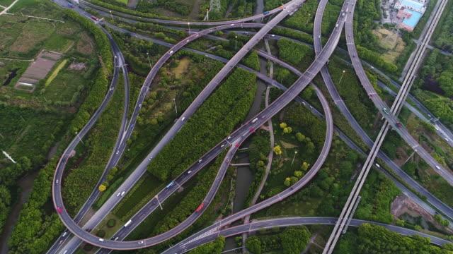 Real Time luchtfoto van Shanghai Highway