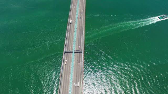 Real Time: Aerial view of Tsing Ma Bridge