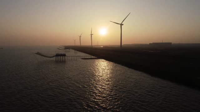 Real-Time Luftaufnahme von Windkraftanlagen
