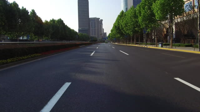 Real time Car driving on the bund,Shanghai,China
