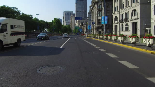 real time car driving on the bund,shanghai,china - car point of view stock videos and b-roll footage