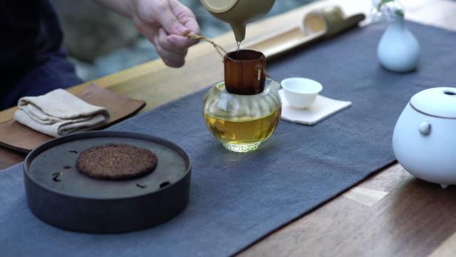 vídeos y material grabado en eventos de stock de ceremonia del té chino en tiempo real - ceremonia