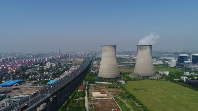 real time coal-fired power station - coal fired power station stock videos and b-roll footage