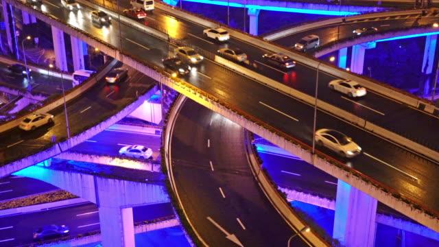 real time / innenstadt von verkehr/shanghai, china - unterwegs stock-videos und b-roll-filmmaterial