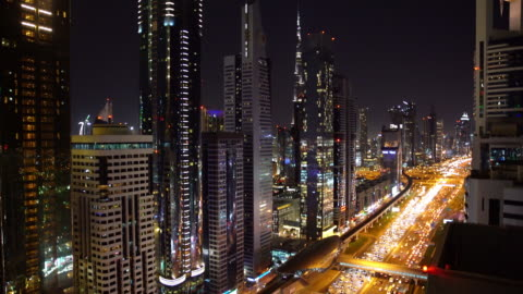 real time dubai city street or road full of cars and metro - real time stock videos & royalty-free footage