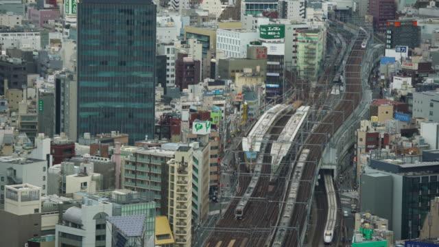 リアルタイム - 東京スカイラインの高い眺め - railway track点の映像素材/bロール