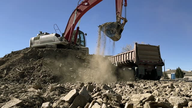 real time heavy machinery construction zone work western usa video series - construction machinery stock videos & royalty-free footage