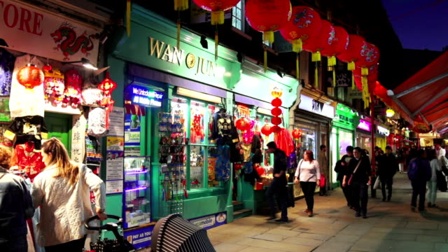 real time night shot no - chinatown stock videos & royalty-free footage