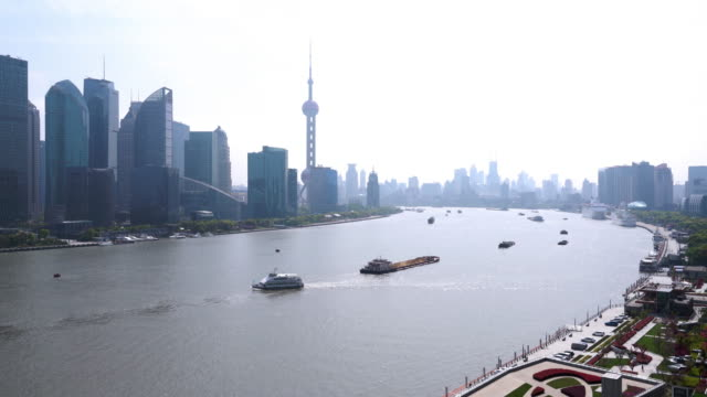 real time shanghai skyline / shanghai, china - shanghai world financial center stock videos & royalty-free footage