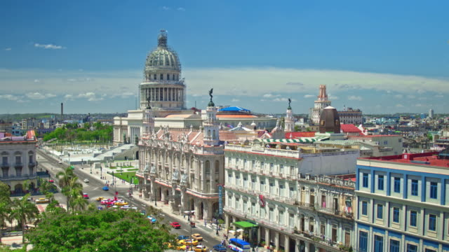 real time video of havana with capitol building in the background - government building stock videos and b-roll footage
