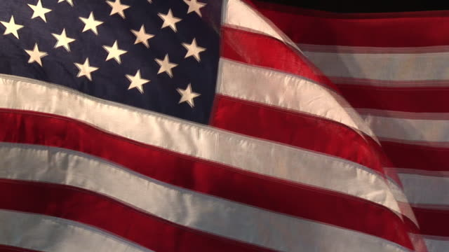 real us american flag 02 (hd) - ceremony stock videos & royalty-free footage