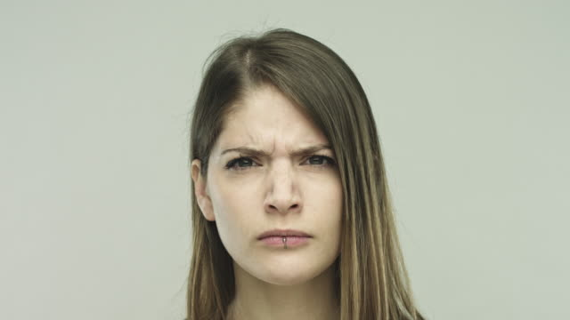 Real woman looking angry