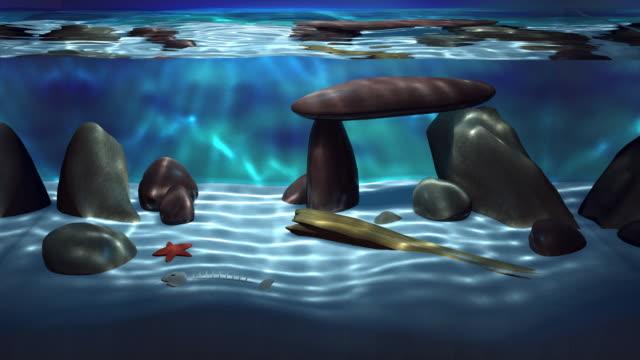 3d realistic aquarium loop - aquarium stock videos & royalty-free footage