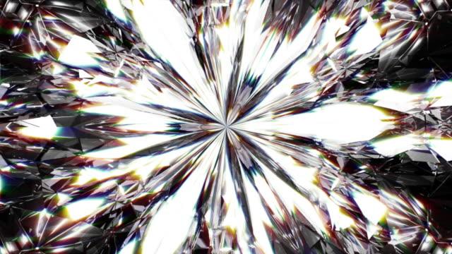 realistic diamond close up texture, background of jewelry gemstone. - trasparente video stock e b–roll