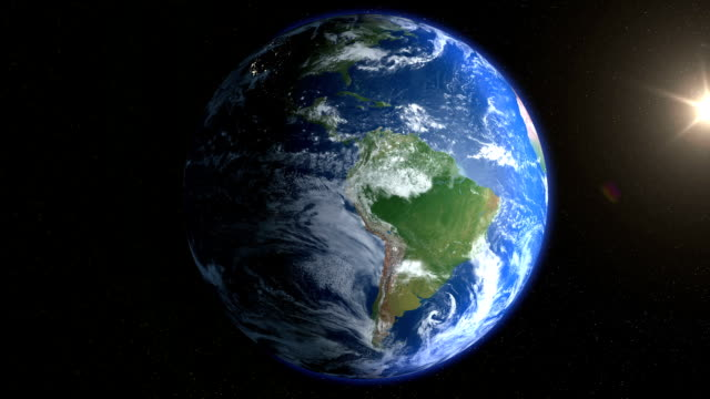 realistic earth background full loopable - planet space stock videos & royalty-free footage