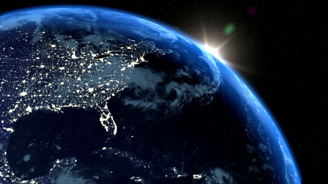 realistic earth sunrise background - usa stock videos & royalty-free footage