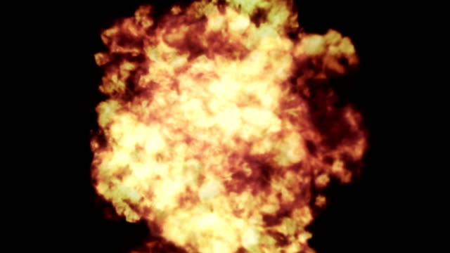 4k realistic explosion + alpha - weapons of mass destruction stock videos and b-roll footage