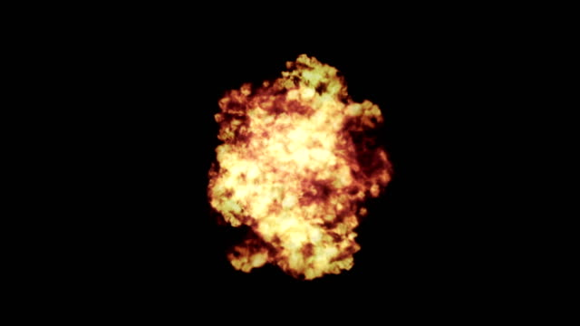 4k realistic explosion + alpha - fireball stock videos & royalty-free footage