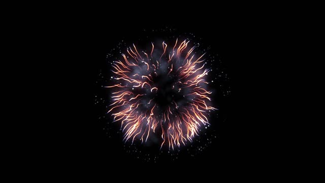 realistic festive firework on black (series) - alpha channel stock videos & royalty-free footage