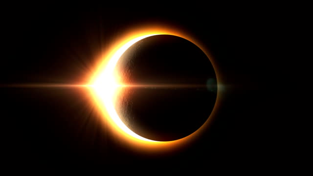 realistic solar eclipse - full version - perfection stock videos & royalty-free footage