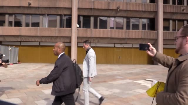 reality tv star jeremy mcconnell leaves court aftr having been found guilty of assaulting exgirlfriend stephanie davis in an attack she said made her... - reality tv stock videos & royalty-free footage