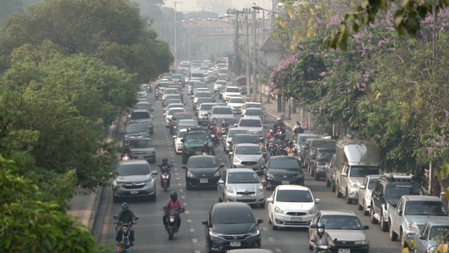 cu realtime air pollution in chiang mai, thailand - chiang mai province stock videos & royalty-free footage