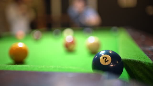 realtime billiards number 2 ball in to hole - number 2 stock videos & royalty-free footage