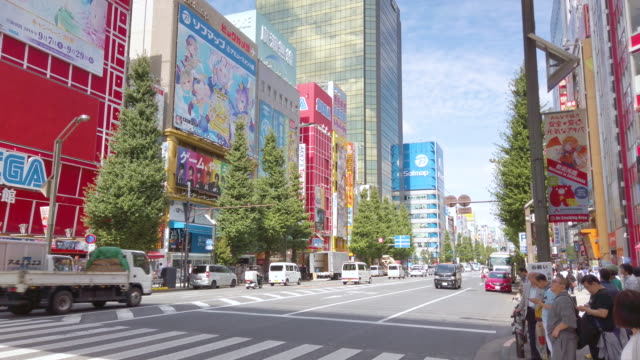 4k realtime pedestrians crowded shopping akihabara electric town in tokto , japan . - akihabara station stock videos and b-roll footage